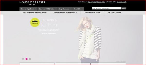House of Fraser - the leading retailer of designer brands!